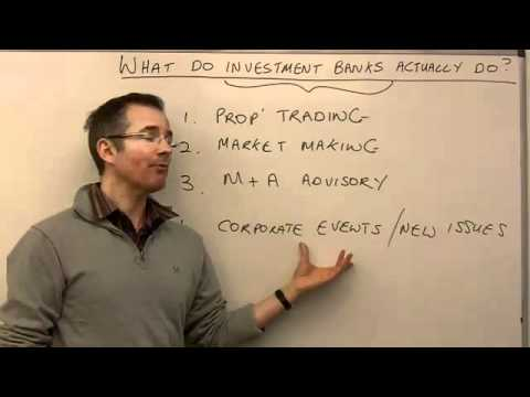 What do investment banks actually do? – MoneyWeek Investment Tutorials